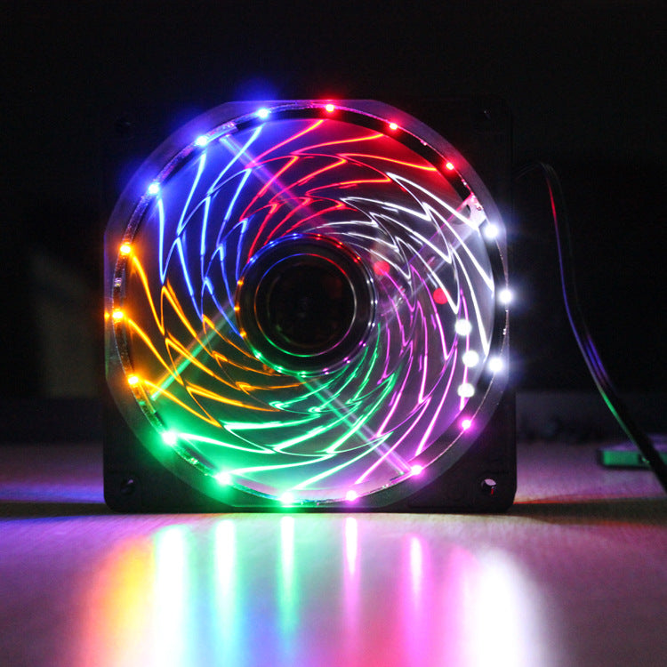 12CM18 light color storm fan (large 4PIN + small 3PIN)