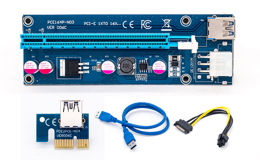 PCI-E Express X16 Extender  ci e Riser Card usb 3.0 pcie Mining Card Adapter for bitcoin mining BTC motherboard device
