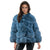 Jemison Leather Handmade Blue Short Fox Fur Jacket - Jemison Leather