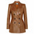 Jemison Leather Handmade Lambskin Women's Long Coat Jacket - Jemison Leather
