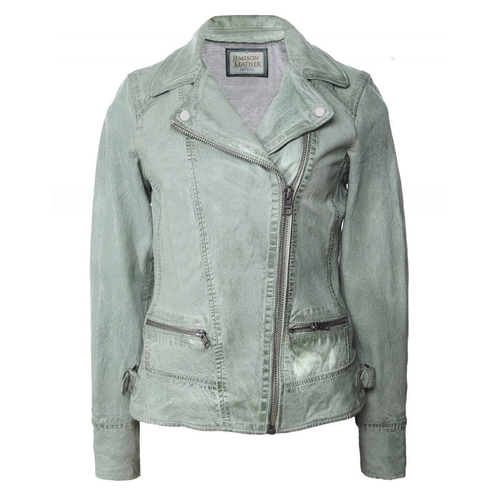 Jemison Leather Gray Women's Jacket