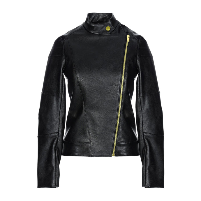 Jemison Leather Charcoal Black Women's Flow Jacket