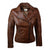 Jemison Leather Handmade Women Cross Biker Lambskin Jacket - Jemison Leather