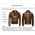 Jemison Leather Handmade Brown Ostrich Leather Jacket