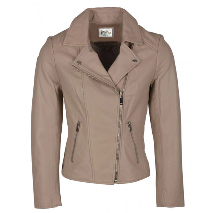 Jemison Leather Biker Style Light Women's Jacket