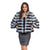 Jemison Leather Handmade Black & White Chinchilla Fur Jacket