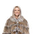 Jemison Leather Handmade Brown Lynx Fur Jacket