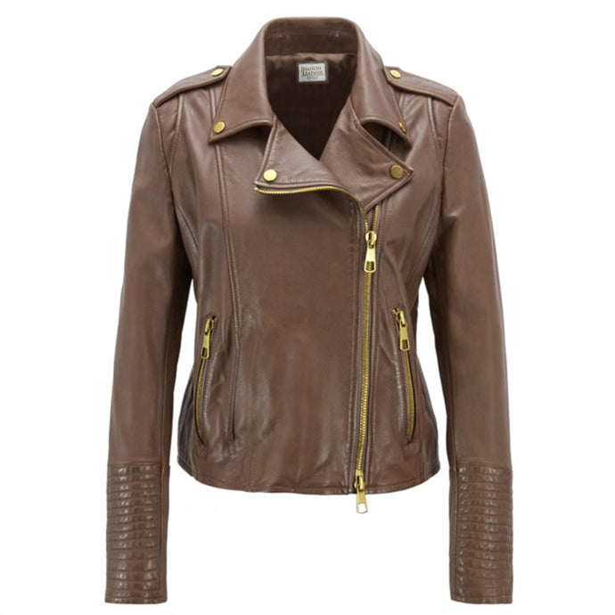 Jemison Leather Women's Biker Style Jacket