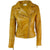 Jemison Leather Handmade Sheepskin Women Cross Gold Jacket - Jemison Leather