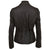 Jemison Leather Handmade Lambskin Dark Brown Women Jacket - Jemison Leather