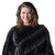 Jemison Leather Handmade Black Mink Fur Shawl