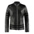 Jemison Leather Handmade Sheepskin Moto Style Black Jacket - Jemison Leather