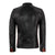 Jemison Leather Handmade Lambskin Biker Style Black Jacket - Jemison Leather