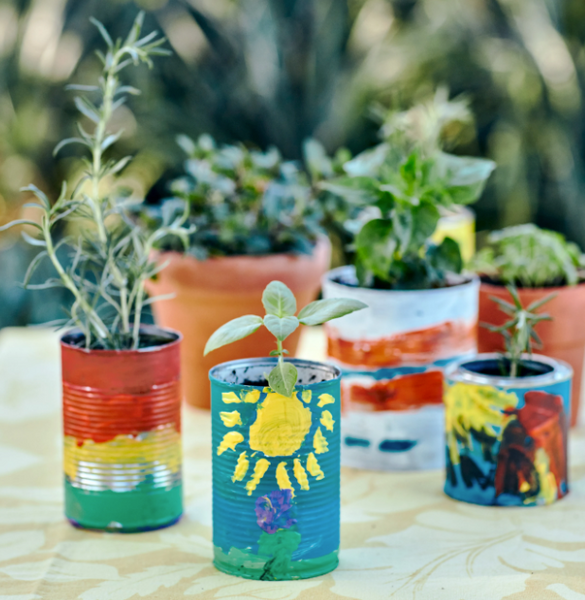 Kid Craft: Upcycled Herb Gardens You Can Make in an Afternoon
