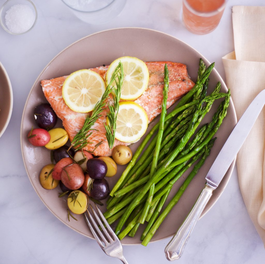 Sous Vide Salmon Dinner with Stasher Bag