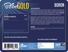 Load image into Gallery viewer, Eden Solutions, LLC Eden Blue Gold Boron (1 gallon)
