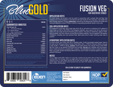 Load image into Gallery viewer, Eden Solutions, LLC Eden Blue Gold Fusion Veg (1 gallon)