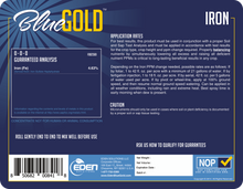Load image into Gallery viewer, Eden Solutions, LLC Eden Blue Gold Iron (1 gallon)
