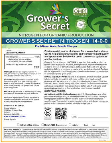 Growers Secret Grower's Secret Nitrogen 14-0-0