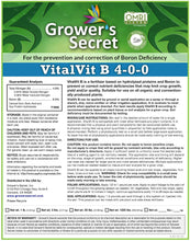 Load image into Gallery viewer, Growers Secret Grower's Secret VitalVit B 4-0-0 Boron