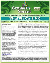 Load image into Gallery viewer, Growers Secret Grower's Secret VitalVit Ca 5-0-0  Calcium