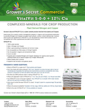 Load image into Gallery viewer, Growers Secret Grower's Secret VitalVit Cu 5-0-0 Copper