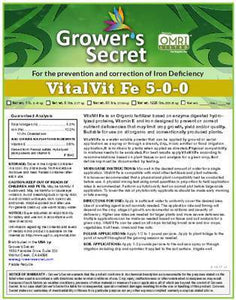 Growers Secret Grower's Secret VitalVit Fe 5-0-0 Iron