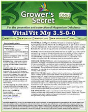 Load image into Gallery viewer, Growers Secret Grower's Secret VitalVit Mg 3.5-0-0 Magnesium