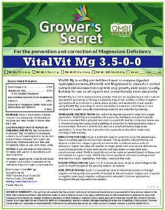 Growers Secret Grower's Secret VitalVit Mg 3.5-0-0 Magnesium