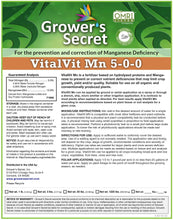 Load image into Gallery viewer, Growers Secret Grower's Secret VitalVit Mn 5-0-0 Manganese