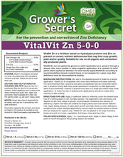 Load image into Gallery viewer, Growers Secret Grower's Secret VitalVit Zn 5-0-0 Zinc