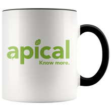 Load image into Gallery viewer, teelaunch Drinkware Black Apical Accent Mug