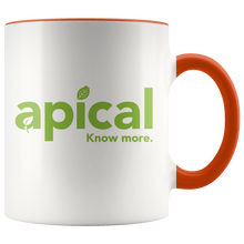 Load image into Gallery viewer, teelaunch Drinkware Orange Apical Accent Mug