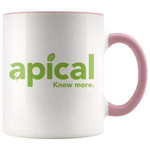 teelaunch Drinkware Pink Apical Accent Mug