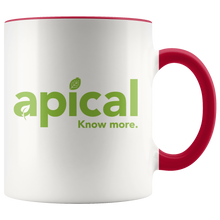 Load image into Gallery viewer, teelaunch Drinkware Red Apical Accent Mug