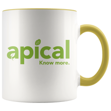 Load image into Gallery viewer, teelaunch Drinkware Yellow Apical Accent Mug