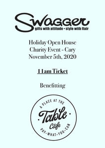 Holiday Charity Event - Cary 11 AM November 5th