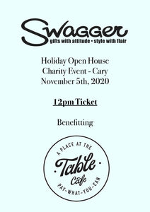 Holiday Charity Event - Cary 12 PM November 5th