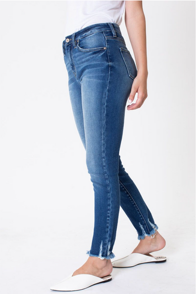 The Dallas Frayed Skinny Jeans