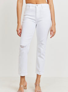 Rocky Mount White Straight Jeans