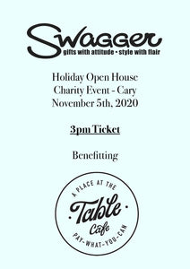 Holiday Charity Event - Cary 3 PM November 5th