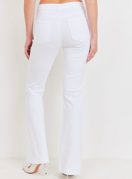 The Hamptons White Flare Jeans