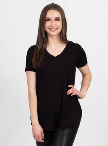 Truth Hurts Black Ribbed Top