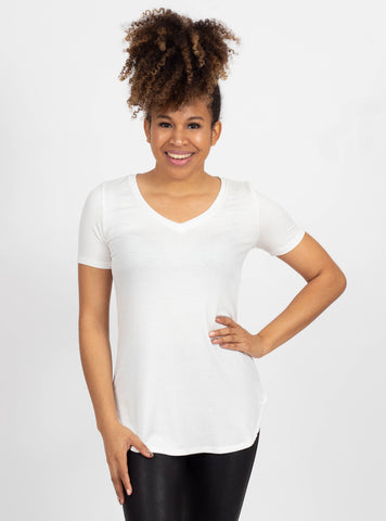 Brighter Horizons Ivory Ribbed Top