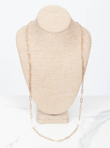 Elodie Chain Layer Necklace 36 inch