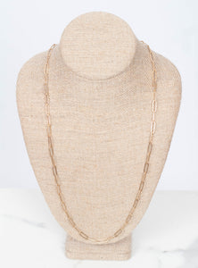 Elodie Chain Layer Necklace 30 inch.