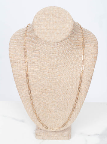 Elodie Chain Layer Necklace 30""