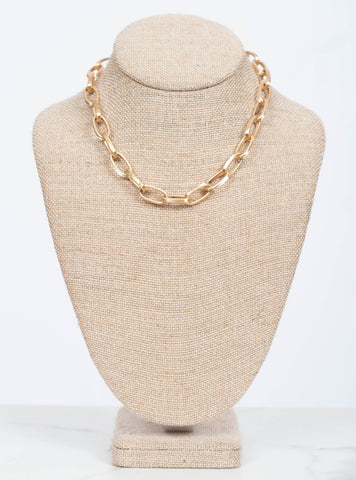 Jolie Chain Necklace-Gold