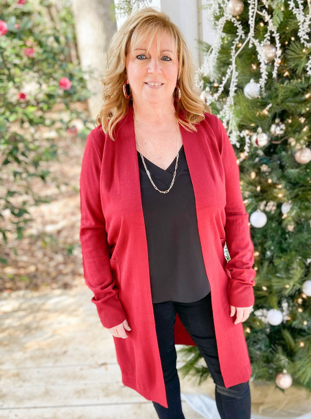 The Holly Berry Cardigan
