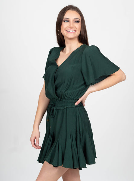 At Ease Ruffle Dress